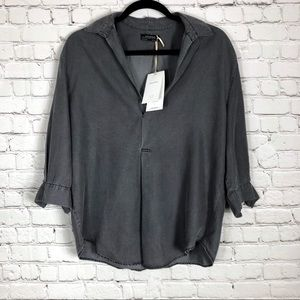 Zara | Gray Blouse